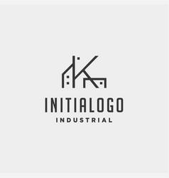 Initial letter k real estate logo design vector
