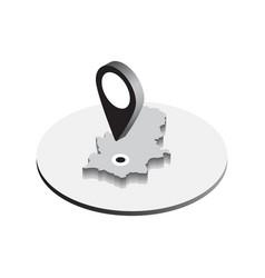 Isometric pin icon vector