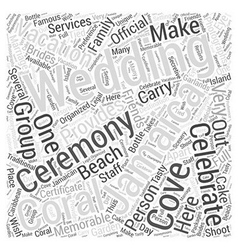 jamaica vacation wedding Word Cloud Concept vector image