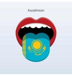 Kazakhstan language Abstract human tongue vector