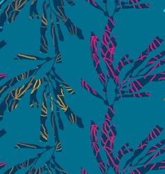 Kelp seaweed textured on blue vector
