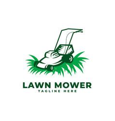 Lawn mower logo icon vector