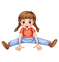 Little girl stretching her legs vector