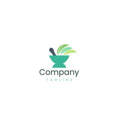 Medicine bowl logo design template suitable vector