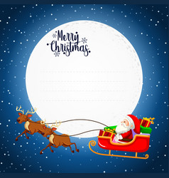 merry christmas card concept vector image
