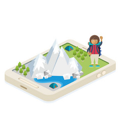 mobile app for traveling and camping vector image