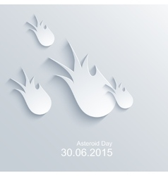 modern asteroid day background vector image