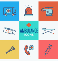 Modern medical icon set vector