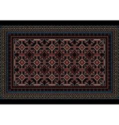 Mottled oriental carpet with original pattern vector