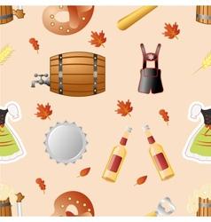 Octoberfest seamless pattern vector