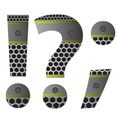 perforated metal question mark vector image