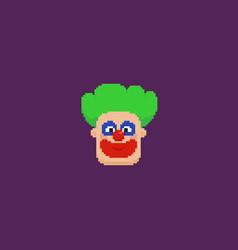 pixel art clown vector image
