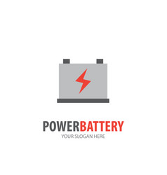 power battery logo for business company simple vector image