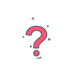question mark icon design vector image