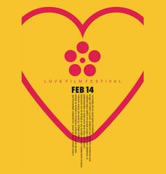 romantic movies festival vector image