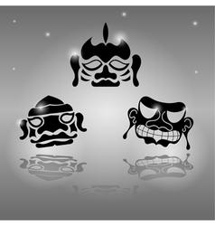 Set of African masks vector image