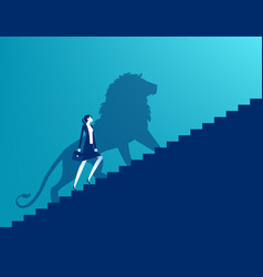 Shadow a lion reflects leadership vector