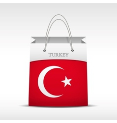Shopping bag with Turkey flag vector image