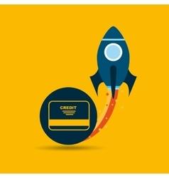 Start up globe business credit card vector