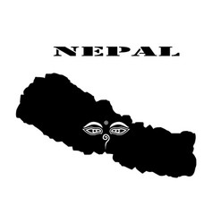 symbol of nepal and map vector image