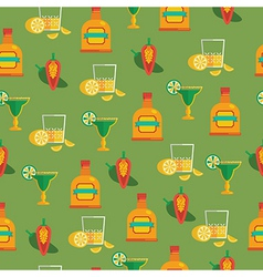 tequila pattern vector image