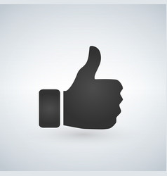 thumbs up like emoji for social media channels vector image