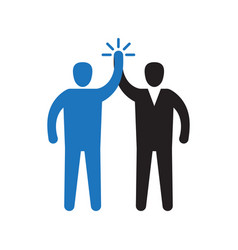 two hands giving a high five for great work vector image