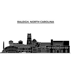 Usa raleigh north carolina architecture vector