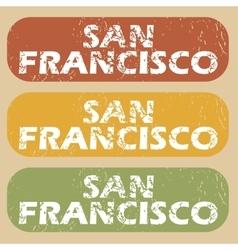 Vintage San Francisco stamp set vector image
