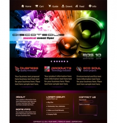 webtemplate or blog graphics vector image
