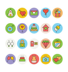 Wedding Colored Icons 4 vector