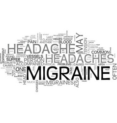 what you need to know about migraine headache vector image