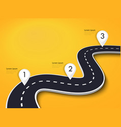 winding road on a colorful background road way vector image