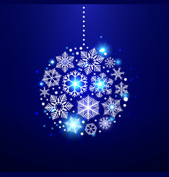 decorative christmas snowflakes vector image vector image