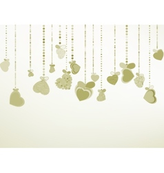 Elegant Valentines or wedding EPS 8 vector image