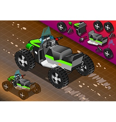 Isometric Quad Bike in Rear View vector image