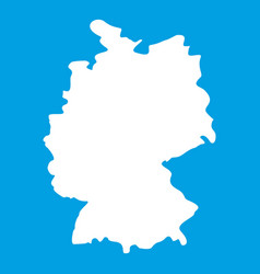 map of germany icon white vector image