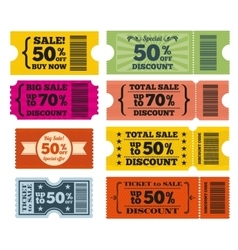 Sale tickets set vector image