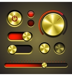 Set of the detailed UI elements vector image