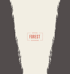 vertical pine forest drawn sketch vector image vector image