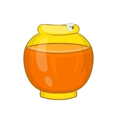 Bank with honey icon cartoon style vector image