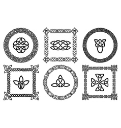 Celtic knots frames vector image