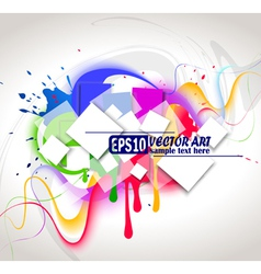 colour abstract composition vector image