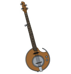 Modern electric banjo vector image vector image