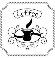 Signboard of coffee with cream vector