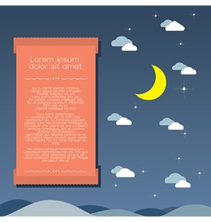 Moon and Clouds Background vector image