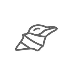 simple conch line icon symbol and sign vector image vector image