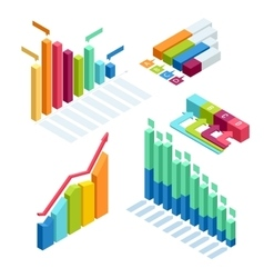 Chart and graphic isometric business diagram data vector image