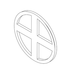 Circular window isometric 3d icon vector image vector image
