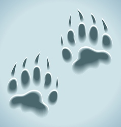 prints in snow wild animal tracks vector image vector image